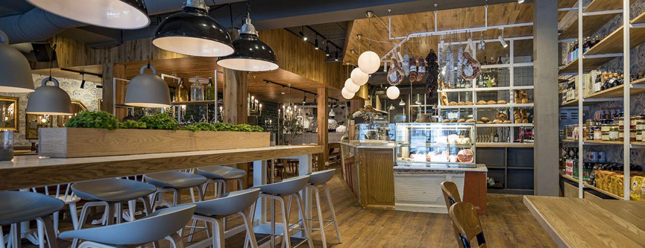 Interiør foto av Restaurant Bellini i Kristiansand.  Foto: Tor Erik Schrøder